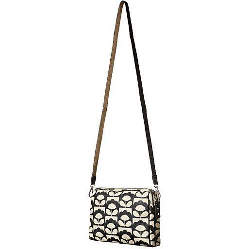 Orla Kiely Orla Kiely Tiny Spring Bloom Small Crossbody Bag - Charcoal d6e0650059745