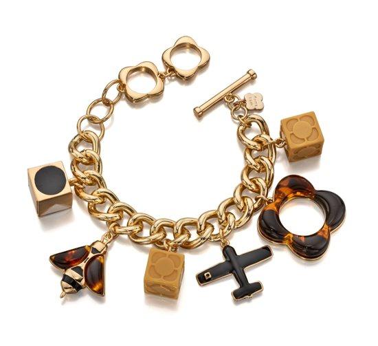 Orla Kiely Bee And Plane Charm Bracelet - Watches   Jewellery - Portmeirion  Online 959d3ebb1