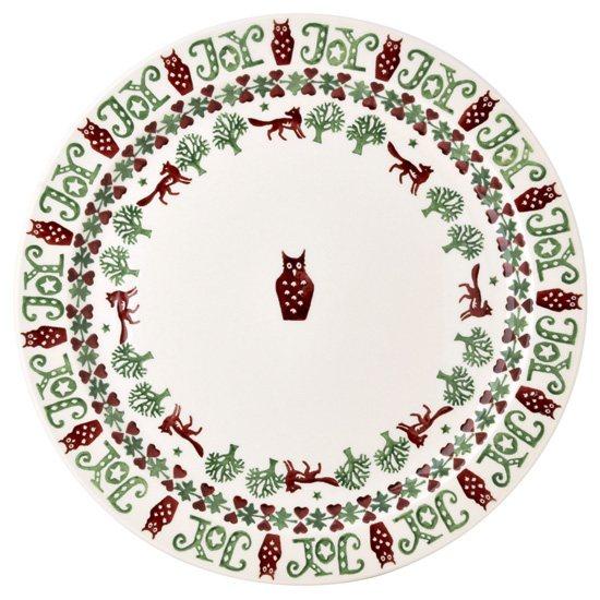 Christmas Bowls And Platters.Emma Bridgewater Christmas Joy Noel Cake Plate