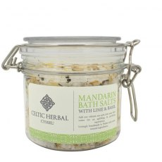 Mandarin Bath Salts with Lime & Basil 350g