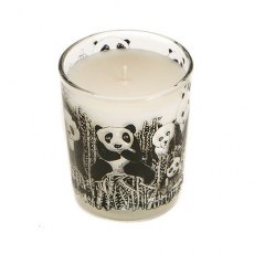 Panda Party Scented Organic Candle Bamboo and Olive Blossom