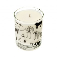Dogs Scented Organic Candle Rhubarb and Ginger