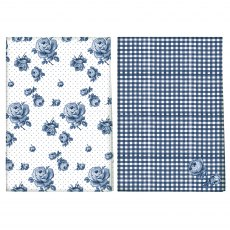 Katie Alice Vintage Indigo Set Of 2 Tea Towels