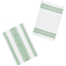KC S/2 Tea Towels Jaquard