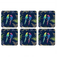 Sara Miller London Portmeirion Parrot Coasters Set of 6