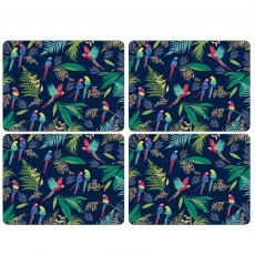 Sara Miller London Portmeirion Parrot Extra Large Placemats Set of 4