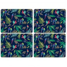 Sara Miller London Portmeirion Parrot Placemats Set of 4