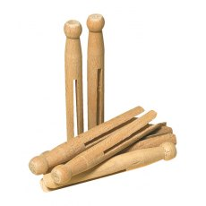 Redecker Old Fashioned Wooden Clothes Pegs