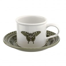 Botanic Garden Harmony Breakfast Cup & Saucer Forest Green