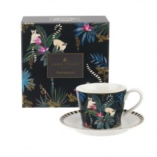 Sara Miller London Portmeirion Tahiti Teacup & Saucer Lemur
