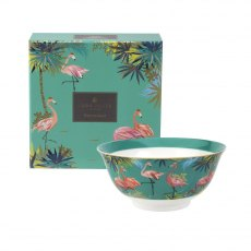 Sara Miller London Portmeirion Tahiti Candy Bowl Flamingo