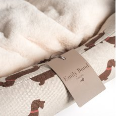 Emily Bond Dachshund Medium Dog Bed