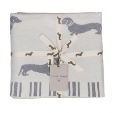 Emily Bond  Dachshund Knitted Throw