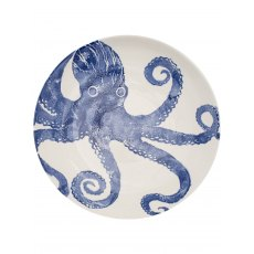 Octopus Serving Bowl Large Blue