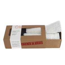 A Box Of Kisses - French Grey Kisses Organic Swaddles