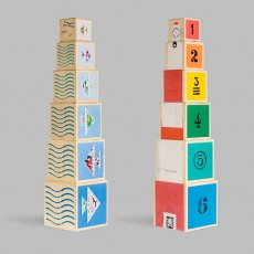 Nautical Nesting Cubes Wooden Toy