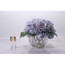 Cote Noire Luxury Range Hydrangea - Blue in Crystal Vase