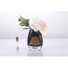Cote Noire Luxury Range Pink Blush Tea Rose in Black Glass