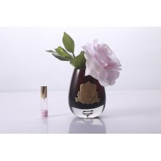 Cote Noire Luxury Range French Pink Tea Rose in Black Glass