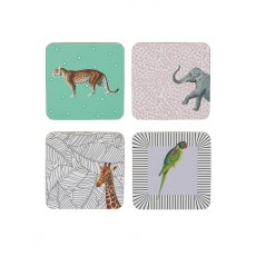 Yvonne Ellen Animal Coasters, Set of 4