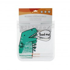 Full Circle Ziptuck Reusable Sandwich Bags Dinosaur