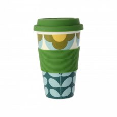 Orla Kiely Summer Flower Stem Travel Mug Blue & Yellow