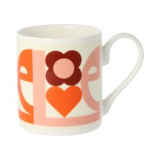 Orla Kiely Love Pink Quite Big Mug