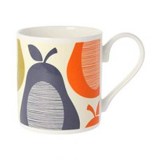 Orla Kiely Slate Pear Stripe Quite Big Mug