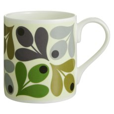 Orla Kiely Green Multi Acorn Quite Big Mug