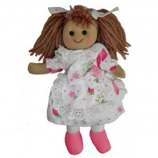 Rag Doll with Strawberry Print Dress 20cm