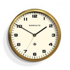 The Chrysler Radial Brass Wall Clock White Face