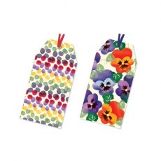 Emma Bridgewater Rainbow/Pansy Gift Tags set of 6