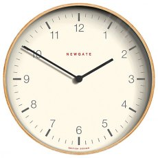 Mr Clarke Pale Wood Finish Wall Clock