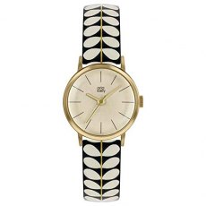 Orla Kiely Quartz Watch with Leather Strap Beige