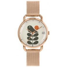 Orla Kiely Avery Stem Watch Rose Gold Strap