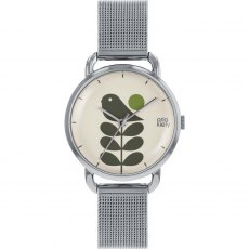 Orla Kiely Avery Stem Watch With Silver Strap