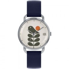 Orla Kiely Avery Stem Watch Navy Strap