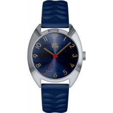 Orla Kiely Beatrice Watch With Blue Leather Strap