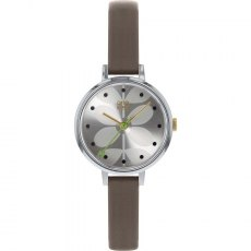 Orla Kiely Ivy Mesh Watch With Slim Brown Strap