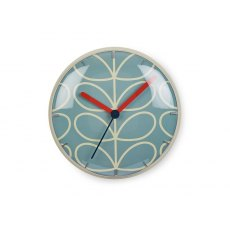 Orla Kiely Linear Stem Wall Clock Sky Blue