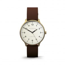 The Blip Brown Leather Strap Watch