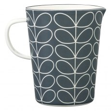 Orla Kiely Linear Stem Slate Enamel Large Measuring Jug
