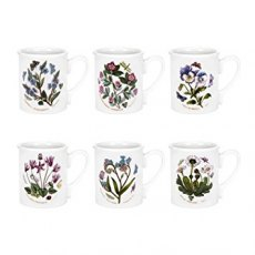 Botanic Garden Breakfast Mugs Set of 6