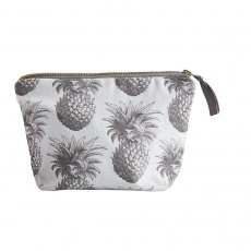 Thornback & Peel Grey Pineapple Cosmetic Bag