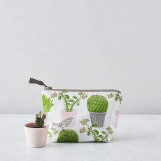 Thornback & Peel Cactus & Bird Cosmetic Bag