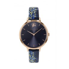 Sara Miller Wisteria Watch in Rose Gold and Navy