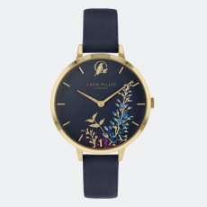 Sara Miller Wisteria Watch in Gold and Navy