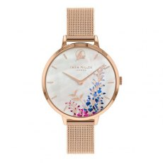 Sara Miller Wisteria Watch in Rose Gold and White