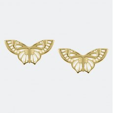 Sara Miller Butterfly Stud Earrings Gold