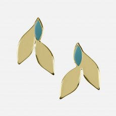 Sara Miller Azura Leaf Stud Earrings